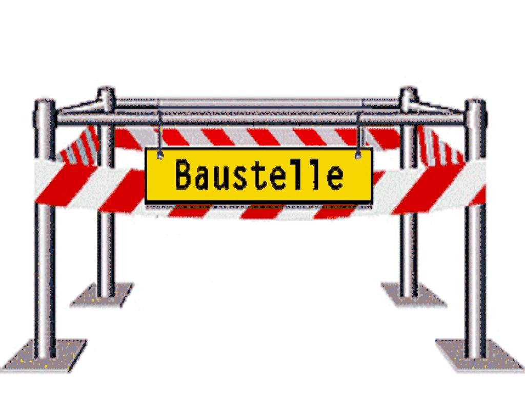Baustelle schild comic  Wies Faszinatour: Wies aktuell